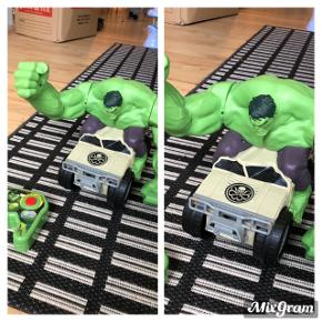 Hulk fjernstyret bil. Ser ud og fungerer som ny