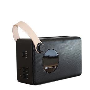 Scansonic PA4600 FM/DAB Radio med bluetooth i sort med læder strop. Indbygget genopladeligt batteri som holder op til 8 timer. 1,4kg. Aldrig brugt. Stadig i original emballage.