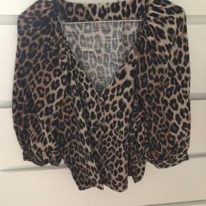 Leopard skjortebluse