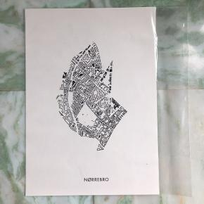 Illustration - eget design - A4 format -trykt på teknisk tegnepapir