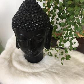Buddha figur, sort
