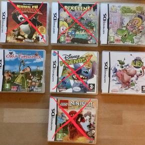 Forskellige spil som passer til både Nintendo DS og Nintendo 3DS.   Alien kr. 25.  Silke kr. 40. Orla Frøsnapper kr. 50.   Sender gerne med DAO for 36 kr. - uanset antal.   Men du er også velkommen til at hente selv😊