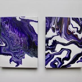 Originalt malerier Størrelse: 18x24cm. Pris pr styk: 95kr Samlet pris: 165kr