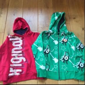 Den grønne er helt ny (fra Bjørkvin), den røde er brugt i een time, dermed blev den vasket. Prisen er for begge to.