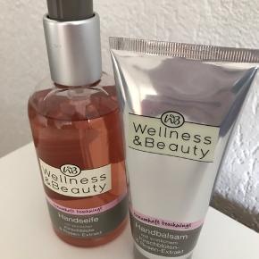 Wellness and Beauty håndsæbe og håndcreMe   150 kr for begge- kun i dag  Byd