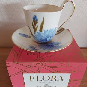 Flora kop Kornblomst....BEMÆRK er den 1. udgave...ikke genoptrykket....og i original æske Brugt en enkelt gang derefter stået i æsken