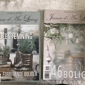 Jeanne d'Arc Living boligblade, julenummer fra 2017 og 2018. Pris pr.stk. Sender gerne, hvis køber betaler porto.