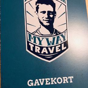 Gavekort på 500kr til My Way Travel - Martin Jørgensens Fodboldrejser.  Vundet ved en fanklubkonkurrence.  Gyldigt til 24.09.2020