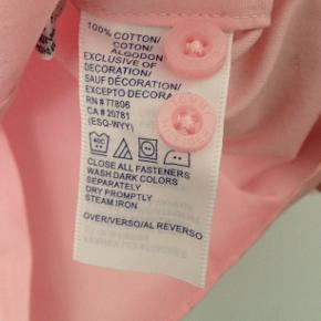 Skjorte, bomuld, strl. 34/XS. Rosa, pink.