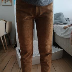Marianne Ploug ruskinds bukser 100% ruskind Str 38