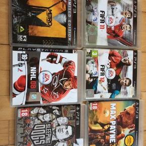 Forskellige spil til PS3. Kom med et bud. Sælges sammen eller separat.