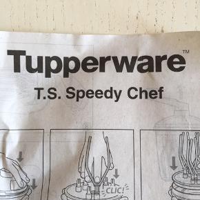 Tupperware Speedy chef - den hurtigste pisker der findes. Pisker flødeskum, mayonnaise etc på kortere tid end en elpisker.  Aldrig brugt - kun vist frem til en demo - så 200 kr er en RIGTIG god pris😉