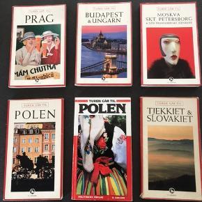 Rejsebøger Turen går til Prag Turen går til Polen Turen går til Tyrkiet og Slovakiet Turen går til budapest og Ungarn Turen går til Moskva, Sankt Petersborg Og den transsibiriske jernbane Turen går til Polen Pris 20 kr. stykket