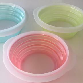Tupperware skåle der kan foldes sammen m låg Grøn 2 l Gul 1,5 l Rød 959 ml