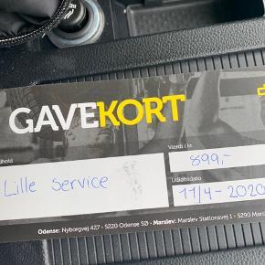 BILLIGT!!!!!❌❌❌  Gavekort til en omgang service på bilen. Værdi 899kr sælges for 700kr.  Autohuset/ nembilsyn: langeskov, Marslev og Odense.