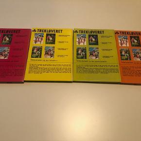 """Else Fischers """"Trekløveret"""" er en krimiserie skrevet til børn:  4. Trekløveret og den blå konvolut 3. Trekløveret og den gamle borgruin 2. Trekløveret og den forbudte ø 1. Trekløveret og diamantkuppet på fjeldet  Bøgerne er i meget fin stand og næsten fejlfrie - i bind 1 og bind 3 er der tegnet lidt med tusch.  Prisidé dkk 120,00 - kom gerne med et seriøst bud."""