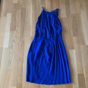 Blå blonde kjole med dyb ryg  Fest galla  #30dayssellout #trendsalesfund
