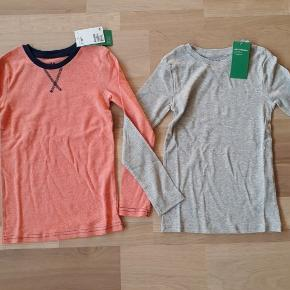Nye trøjer i økologisk bomuld i str. 122/128. Købspris var 129 kr.