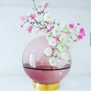 ATYM vase!  Fremstillet i farvet glas og messing  Mål: H10 Ø10 cm.  Farve: Rosa m/messing fod  Størrelse: Small  Producent: AYTM  Vægt: 0,35 kg.