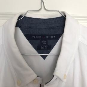 Tommy Hilfiger i modellen: Hvid Oxford slimfit