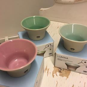 3 fyrfadsstager fra kähler i farverne rosa, blå og grøn. Aldrig brugt og med original emballage. Spørg gerne for flere detaljer