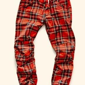 G-Star Raw 5622 3D Tapered Men's Elwood X25 Royal Tartan Print  Pharrell Jeans W31 L32Aldrig brugt.