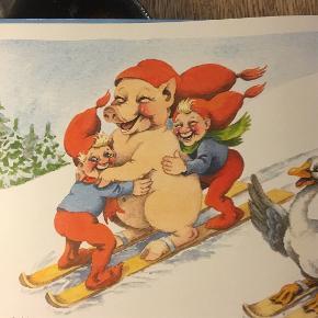 """Julebog """"Nisseole på farten"""" af Carla og Vilhelm Hansen. Ca 30 sider, Måler 28x21,5 cm. pris kr 30"""