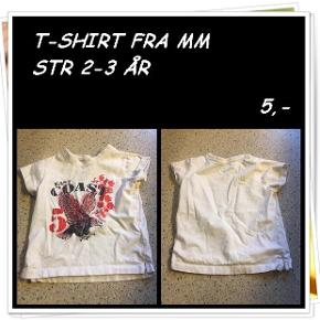 T-shirt fra mm str 2-3 år