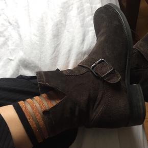 Super flotte mørkebrune støvler / støvletter fra billi bi