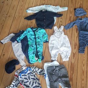 Indeholder: 4 x bukser 2 x trøjer 3 x natdragt 3 x bodies 2 x huer