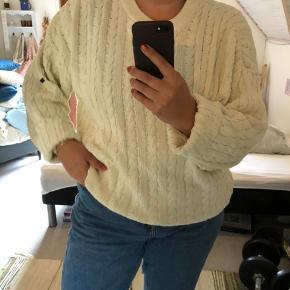 Skøn oversize vintage sweater fra Bison Club i bomuldsstrik