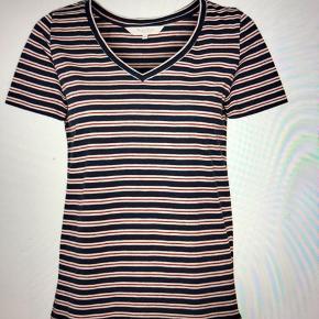 Flot t-shirt super behagelig til sommeren den er ny med tags og aldrig brugt kun prøvet har fået den i gave men den passer mig ikke
