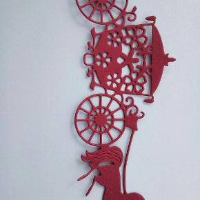 Heste vogn rød dias kan laves i andre farver 1 kr stk.