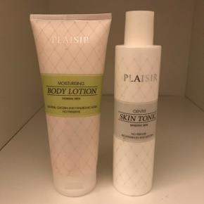 Aldrig brugt. Body lotion + skin tonic.  Byd!