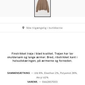 Udsolgt sweater  BYTTER IKKE Brugt to gange  Mørk beige Billede 3 er for at vise hvordan den sidder