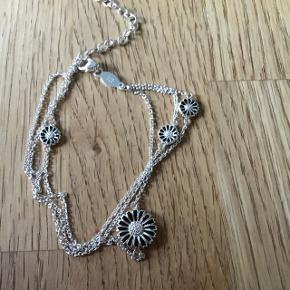 Sølvarmbånd 20cm maguerit