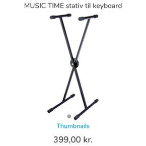 Stativ til Music Time Keyboard. Aldrig brugt, står i kassen. Nypris kr. 399,-.