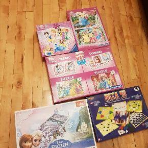 Different games and puzzles.