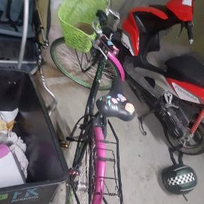 Cykel klar til en kører tur allerede nu.