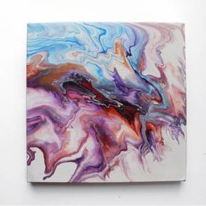 Originalt maleri.  Størrelse: 20x20cm