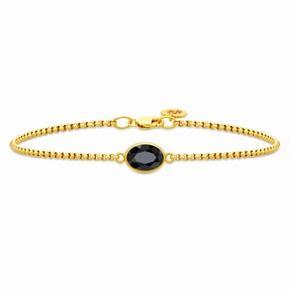 Splinternyt Julie sandlau armbånd. 22 karat forgyldt 925 Sterling sølv. Sort spinkel. Justerbart i 2 længder, 16,5 og 18 cm. Nypris 14000