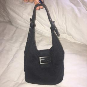FENDI Zucca Mamma Baguette Shoulder Hand Bag Cotton Rigtig god stand