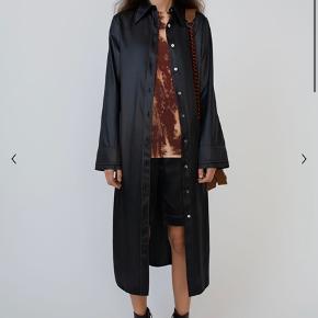 Acne studios Satin shirt dress Black  Np er 2900 Mp er 2200
