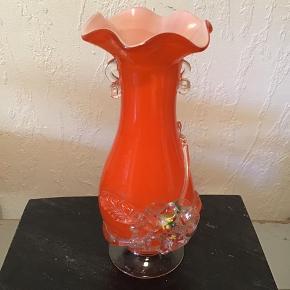 Smuk Holmegaard Tivoli vase højde 20 cm Er hel og uden skader