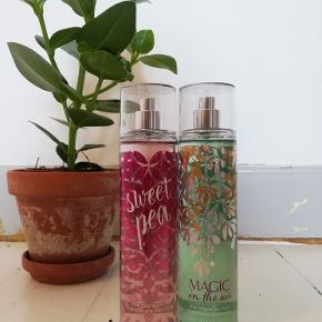 Sælger mine to fragrancemists fra bath and bodyworks, med duftene 'magic in the air' og 'sweet pea'. Ingen af dem er brugt.  30 kr. pr. skt. 50 for begge.