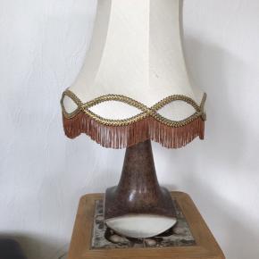 Michael Andersen Bornholm keramik lampe med skærm fremstår som ny Kan hentes Esbjerg 6700