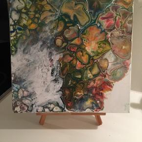 Eget maleri. Måler 30x30 cm. tykt lærred skal ikke indrammes.