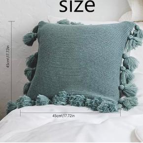 2 stk's helt nye strikket pudebetræk sælges grundet fejlkøb.