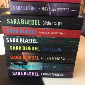 9 bøger/paperback af Sara Blædel.  Som nye.