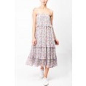 Kjole fra Toupy. Let kjole med elastik ved brystet, små stropper og fint print. Style med sandaler. - kan også trækkes ned og bruges som nederdel ALDRIG BRUGT